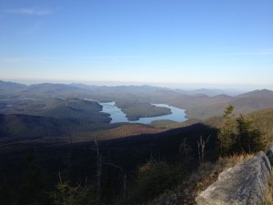 Lake Placid from the summit of Whiteface Mountain